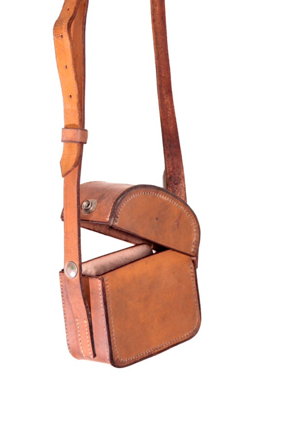 1950's small leather bag -
