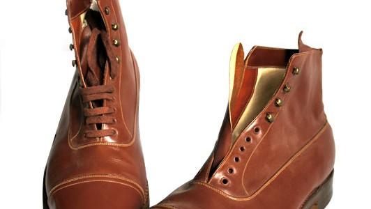 30's belgian brown men's boots