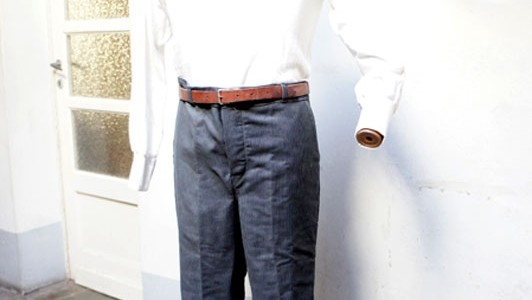 1950's striped work pants