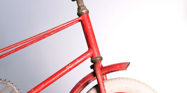1950's kid red bicycle