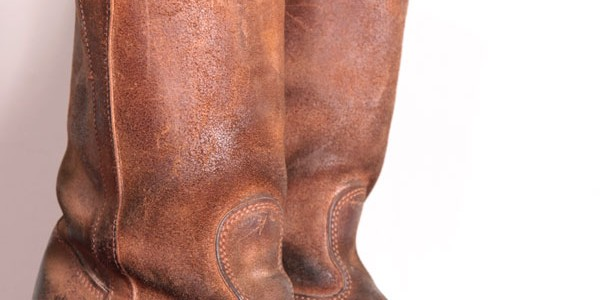 Le Gardian roughout leather boots