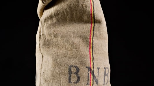 50's BNB (Belgian National Bank) cash bag