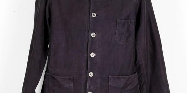 1930's black moleskin jacket