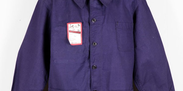1950's indigo linen work jacket