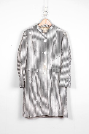 1940's stripped woman coat