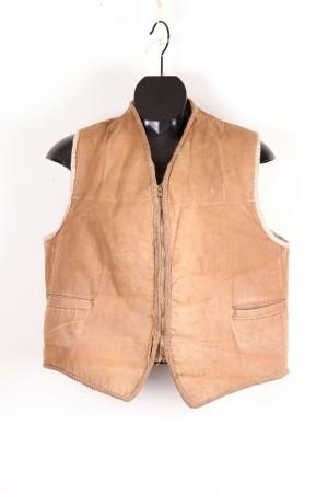1950's french duck brown sheepskin vest
