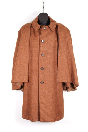 caped tweed coat