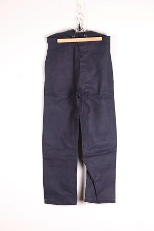 indigo linen pants