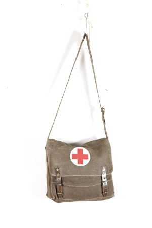 1950's red cross canvas bag