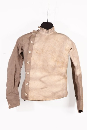 Early 1900's french linen fencing jacket