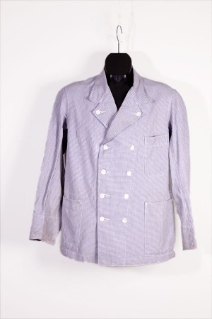 1950's french butcher jacket