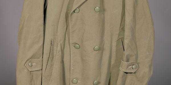 1959 belgian army khaki peacoat