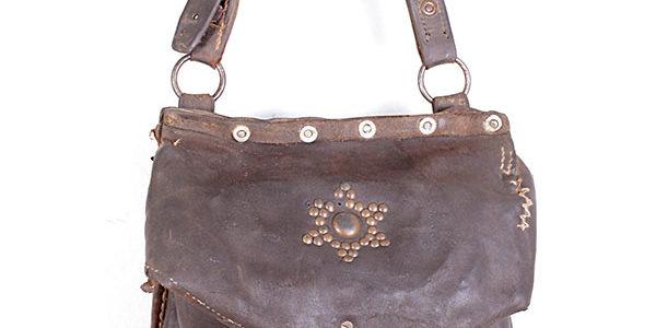 1930's leather satchel