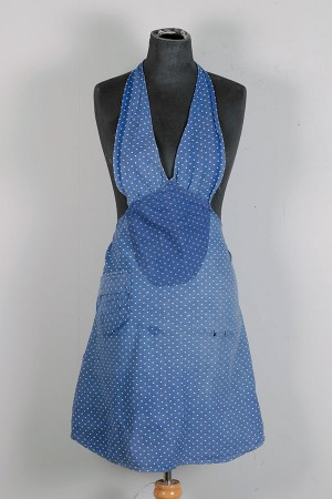 1930's polka dots woman apron