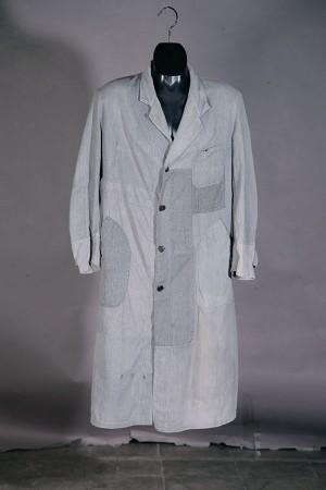 1940's salt & pepper atelier coat