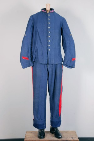 Early 1900's fireman moleskin suit