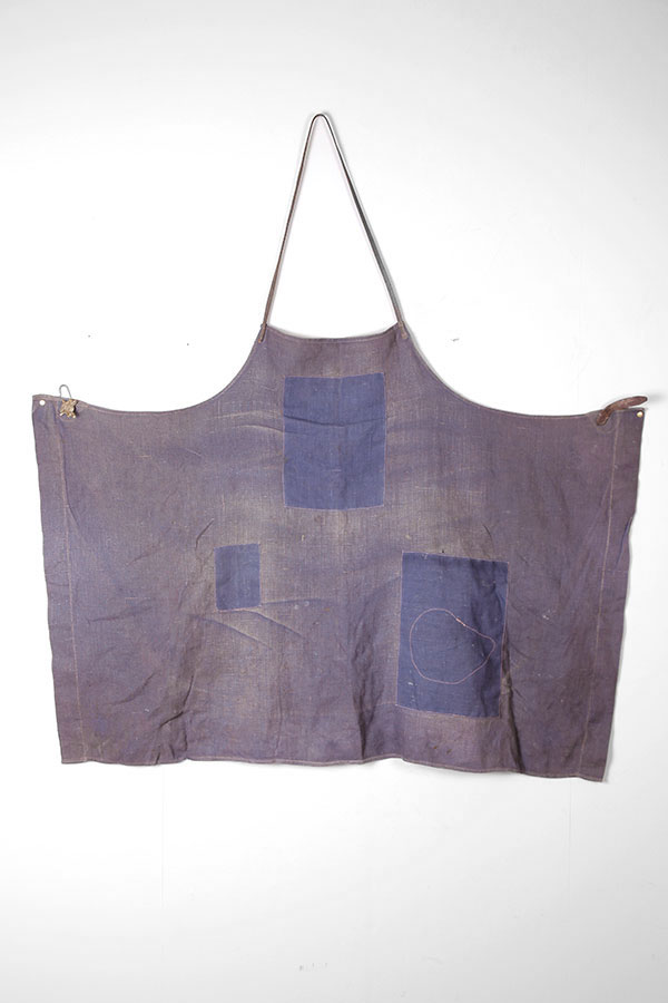 1940's harness-maker indigo apron