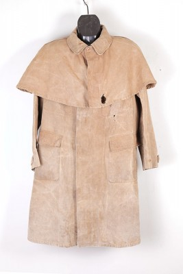 1930's french linen caped coat