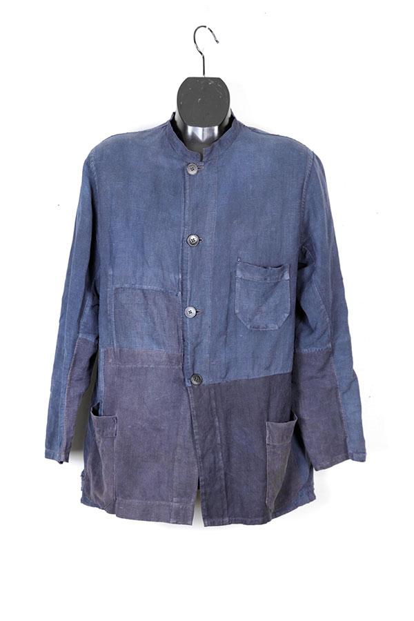 1920's french indigo linen chore jacket