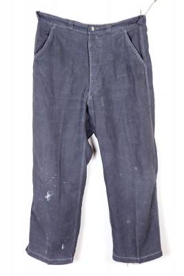 1950's black linen Bragard butcher pants