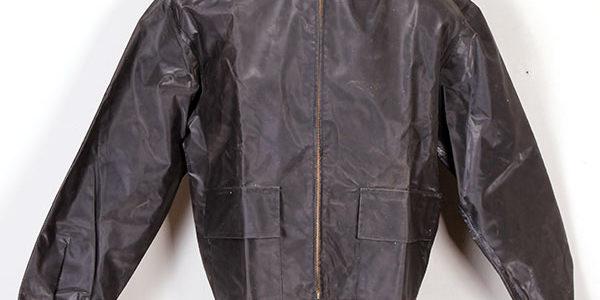 1950's Méryl rubberized motorcyclist jacket