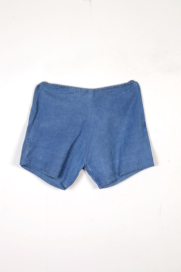 1950's indigo linen men's shorts