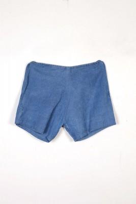 1950's indigo linen men's shorts