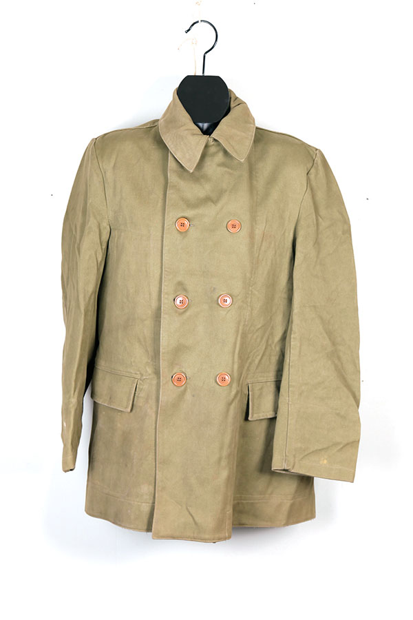 1950's motorcyclist double breasted coat