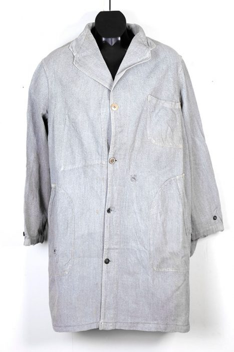 French salt & pepper atelier coat