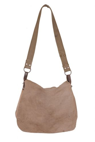 1950's french canvas hunting bag