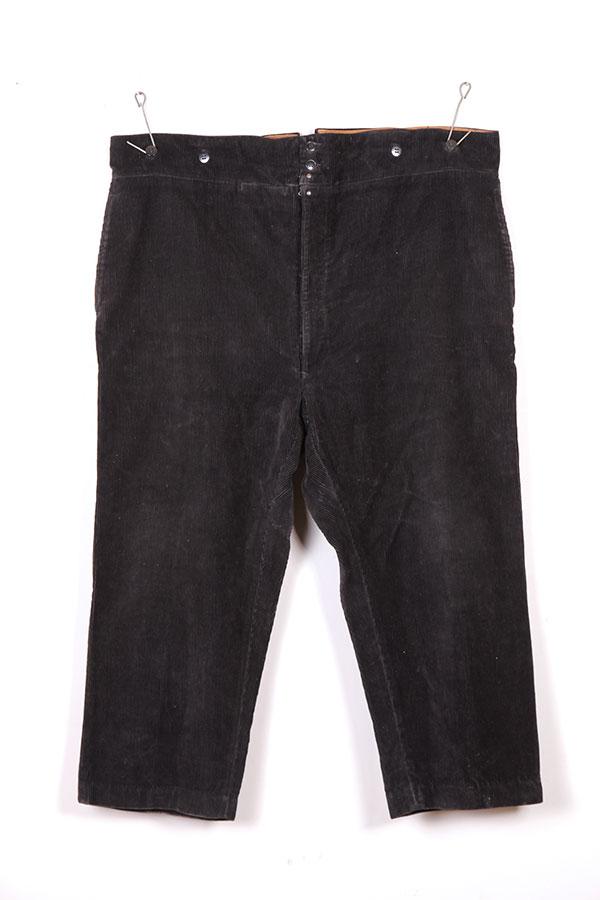 1950's black La Sèvre french corduroy pants