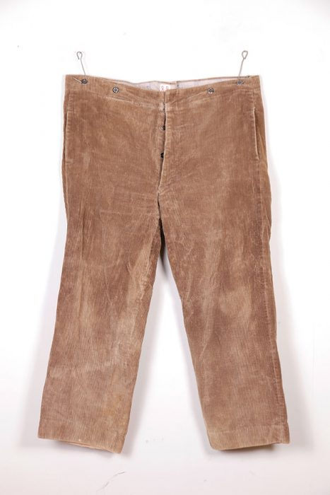 1930's beige french corduroy pants