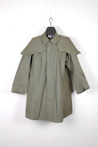 1960's french army linen cape coat