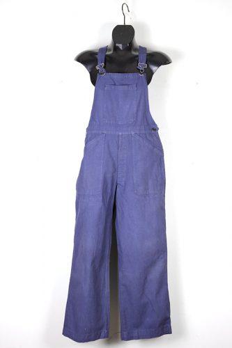 1950's deadstock french indigo linen overall