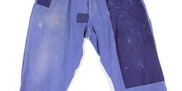 1950's french indigo linen pants