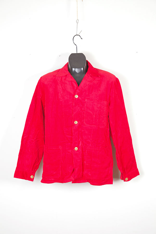 1960's red cord work chore jacket