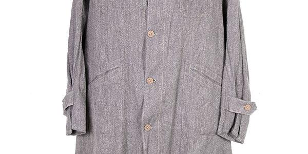 1930's linen chambray atelier coat