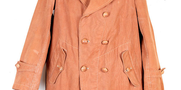 1930's double-breasted cachou canvas hunting french jacket