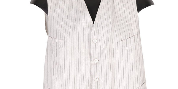 1920's french striped summer vest