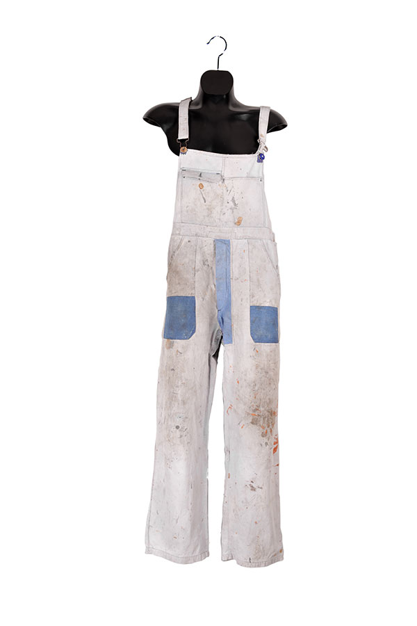 1930's Le Populaire french bleached linen overall