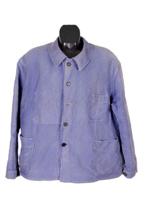 1950's Adolphe Lafont blue moleskin chore jacket