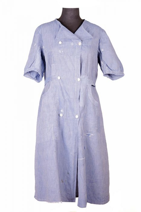 1930's french linen work dress