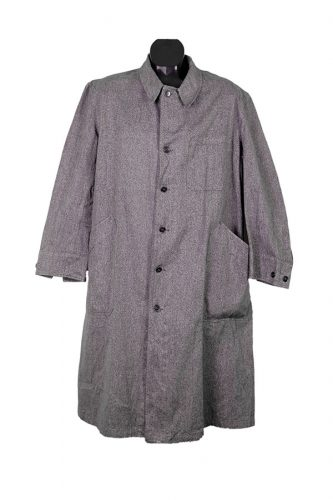 1950's deadstock linen chambray atelier coat