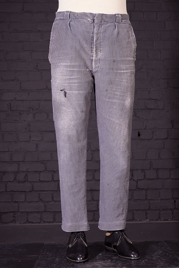 1950's french striped moleskin work pants