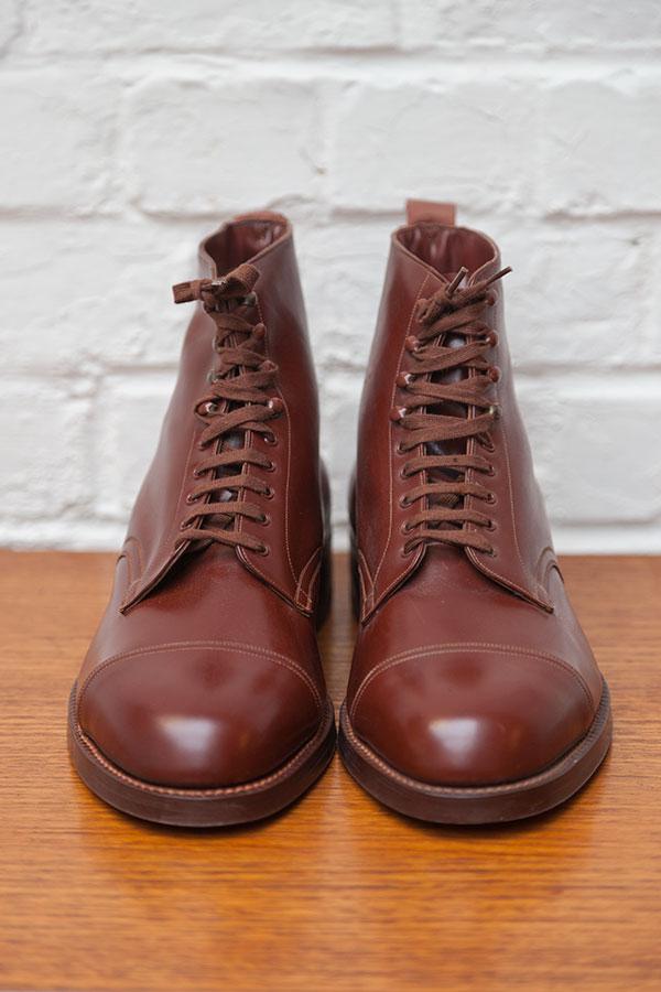 Deadstock 1950's brown leather boots, vintage boots, nos, loiseauraretournai,lemagasin,vintagestore, Tournai, Belgique, Belgium