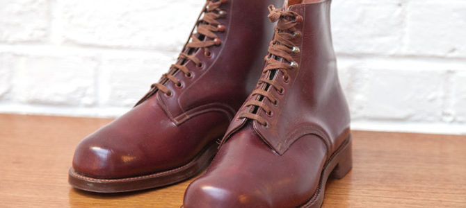 1950's oxblood leather boots