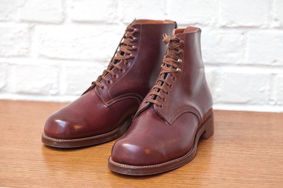 1950's oxblood leather boots, loiseauraretournai,lemagasin, l'oiseau rare tournai, vintage boots, leazther boots
