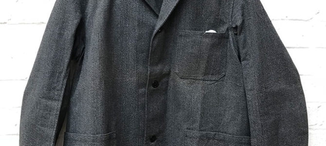 1950's belgian salt & pepper chambray work shore jacket
