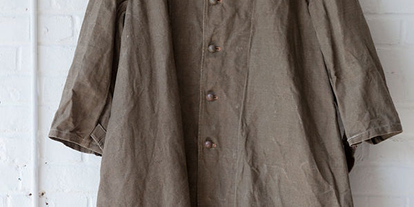 Late 30's french army kakhi linen coat
