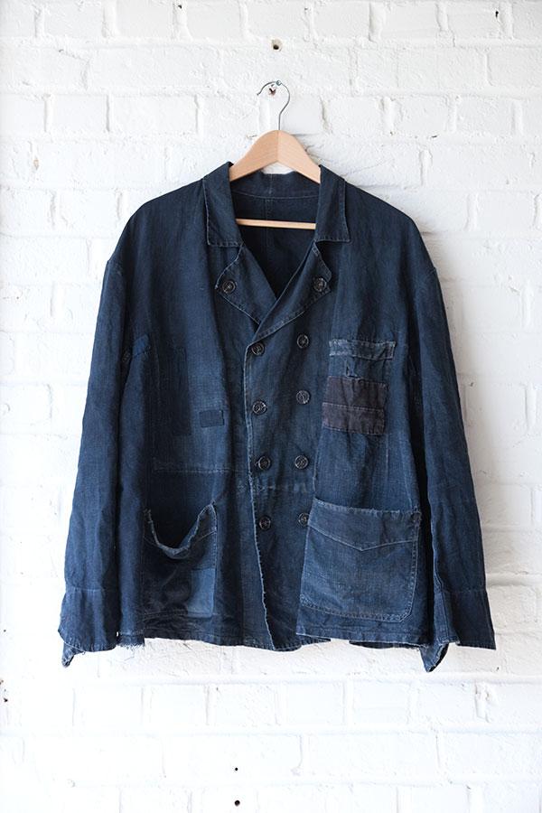 villette linen work jacket, loiseauraretournai, lemagasin